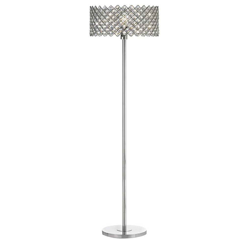 Lampe leselampe stehlampe bodenlampe stehleuchte chrom 1 - Stehlampe kristall ...
