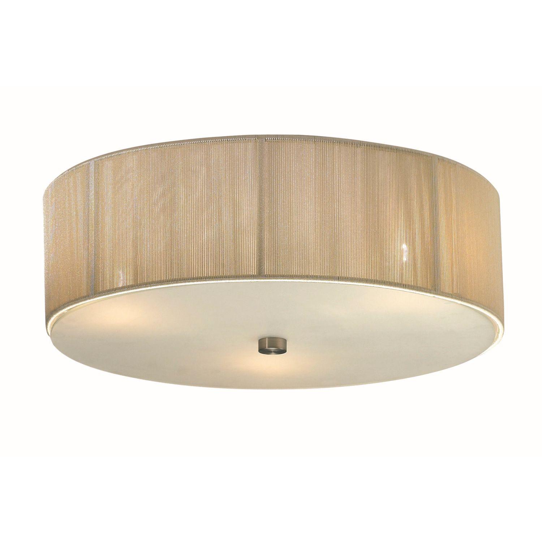 moderner deckenlampe deckenleuchte leuchte lampe 3 flg stoff beige amelia ebay. Black Bedroom Furniture Sets. Home Design Ideas