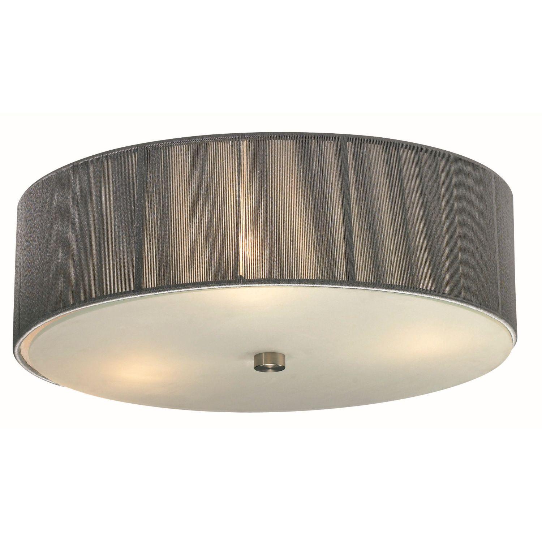 moderner deckenlampe deckenleuchte leuchte lampe 3 flg stoff grau amelia ebay. Black Bedroom Furniture Sets. Home Design Ideas