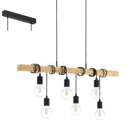 Eglo TOWNSHEND 95499 lampa wisząca 6x60W/E27