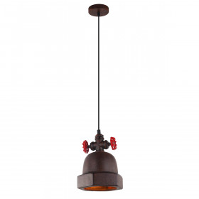 Italux CAPPO MDM-2836/1 RUST lampa wisząca 1x60W/E27