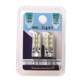 Eko-Light Żarówka EKZA123 1,5W/G4 100lm Zimna biała 6500K 360st