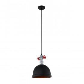 Italux MOKKA MDM2859/1BK lampa wisząca 1x60W/E27